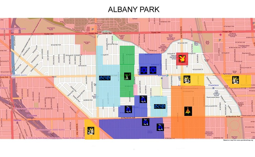 Albany Park Gang Map | Map of Albany Park, Chicago | slide100100 ...
