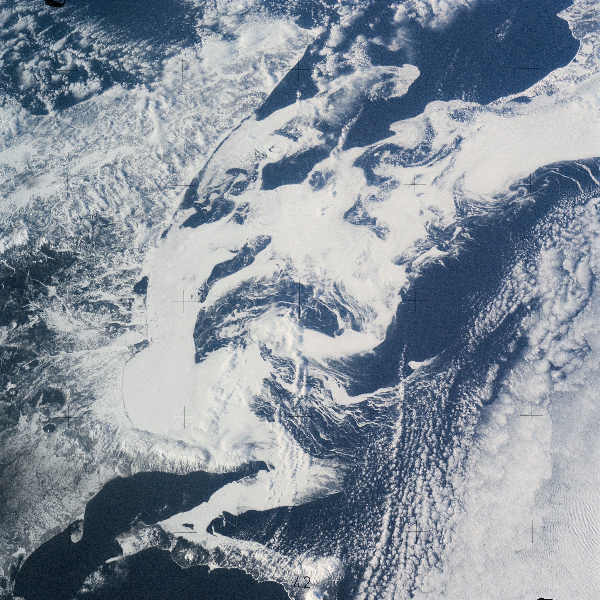 Skylab 4 Earth View of the southern part of the Sea of Okhotsk, north of Japan