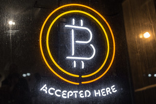 Bitcoin Logo - Bitcoin Accepted Here Neon Sign | by Duncan Rawlinson - Duncan.co - @thelastminute