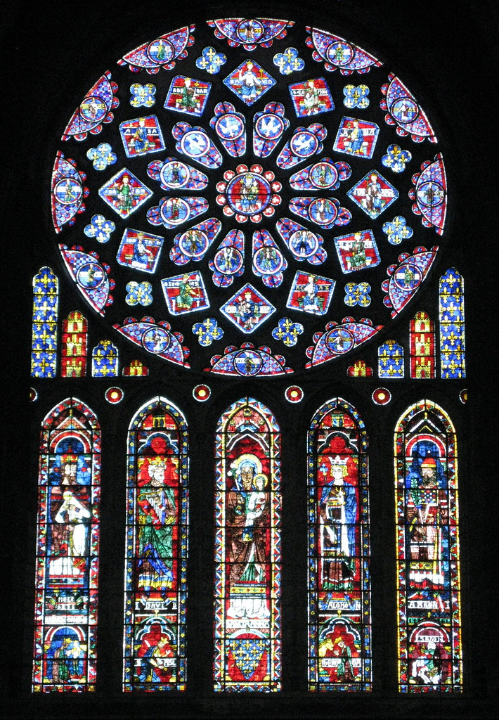 The North Transept Rose Window C1235 Dedicated To Virgin