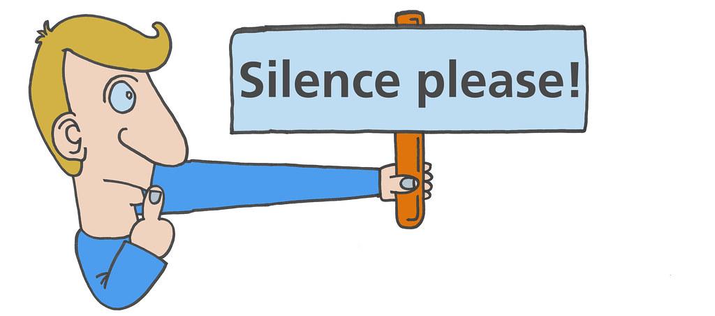 Resultado de imagen para SILENCE PLEASE