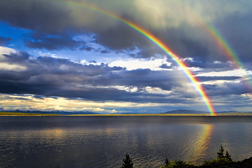 Rainbow Across Yellowstone Lake | by grimeshome