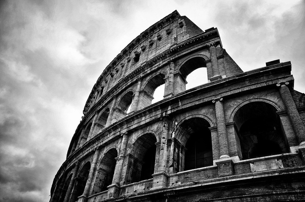 Colosseum rome in black and white by nabilishes on and off