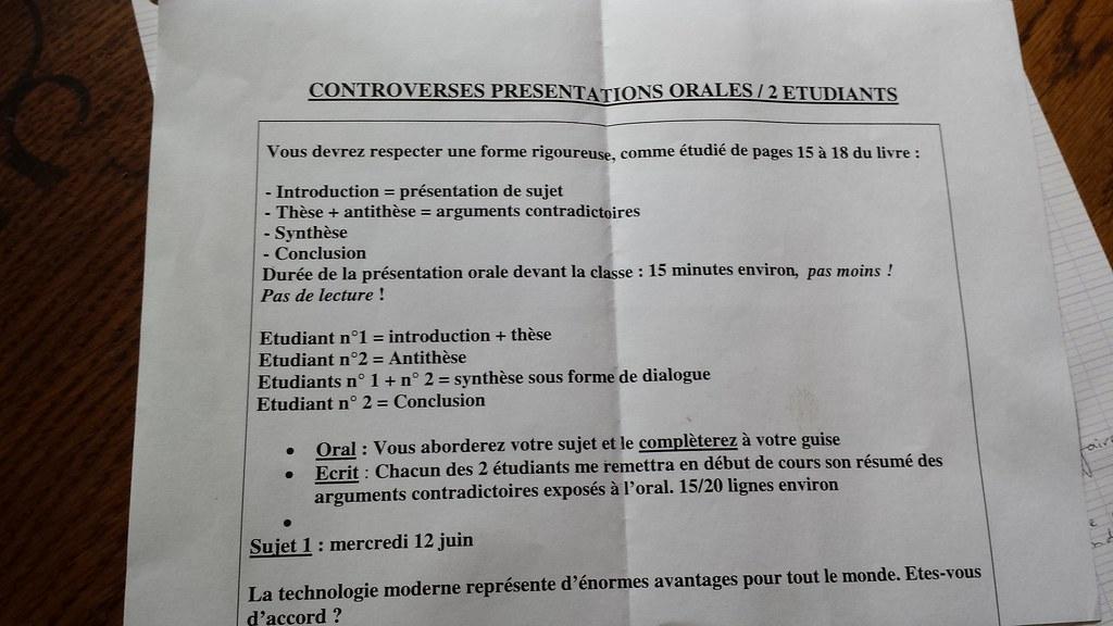 These Antithese Synthese Conclusion - Titre De La Thèse