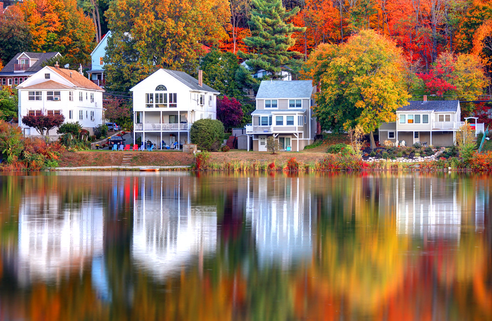 autumn in massachusetts autumn reflections on a small pond flickr