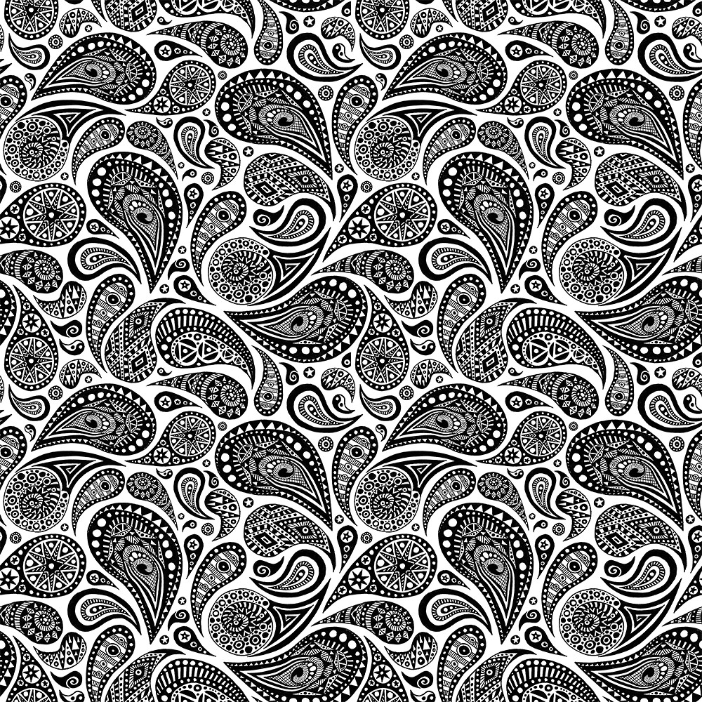 Crazy Paisley Pattern 4 Tiles A Drawing I Turned Into A Flickr