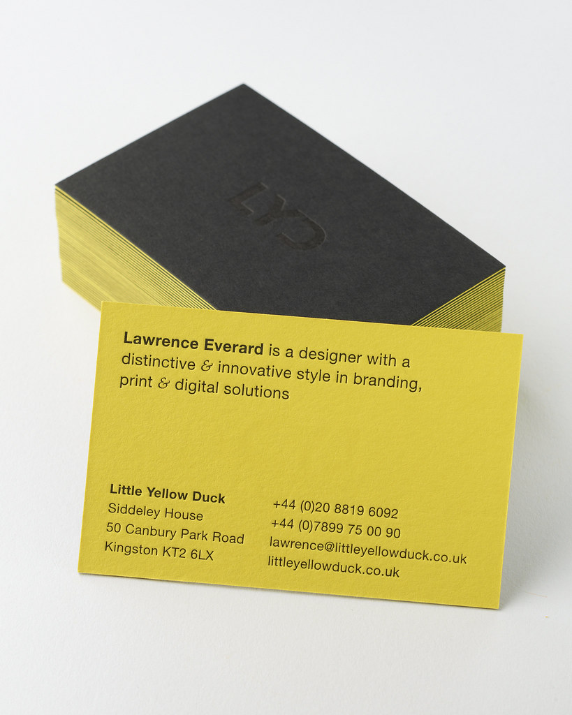 Letterpress business cards on 540gsm duplexed Colorplan ca… | Flickr