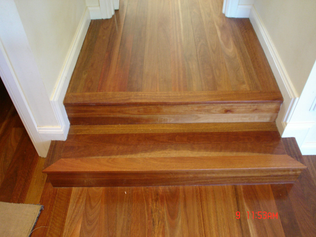 spotted gum stairs in tongue and groove flooring by timber flickr