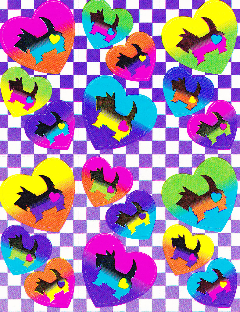 Lisa Frank Scotty Dogs Sticker