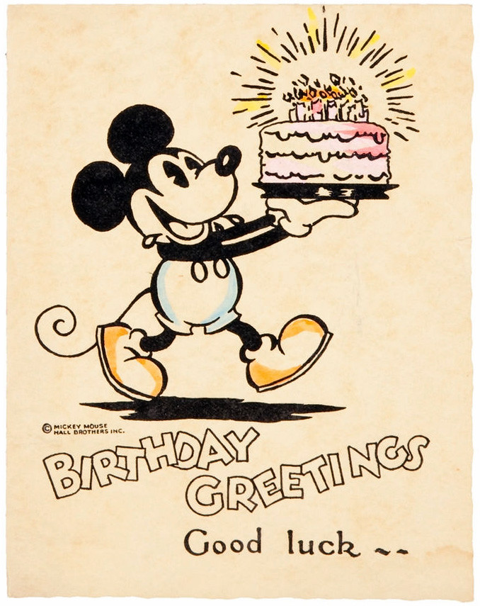 Mickey Mouse Birthday Cards Gangcraft Net Mickey Mouse Wishing Happy Birthday
