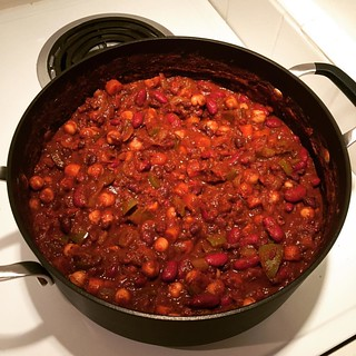 Triple bean vegetarian chili for Halloween! | by laurensweb