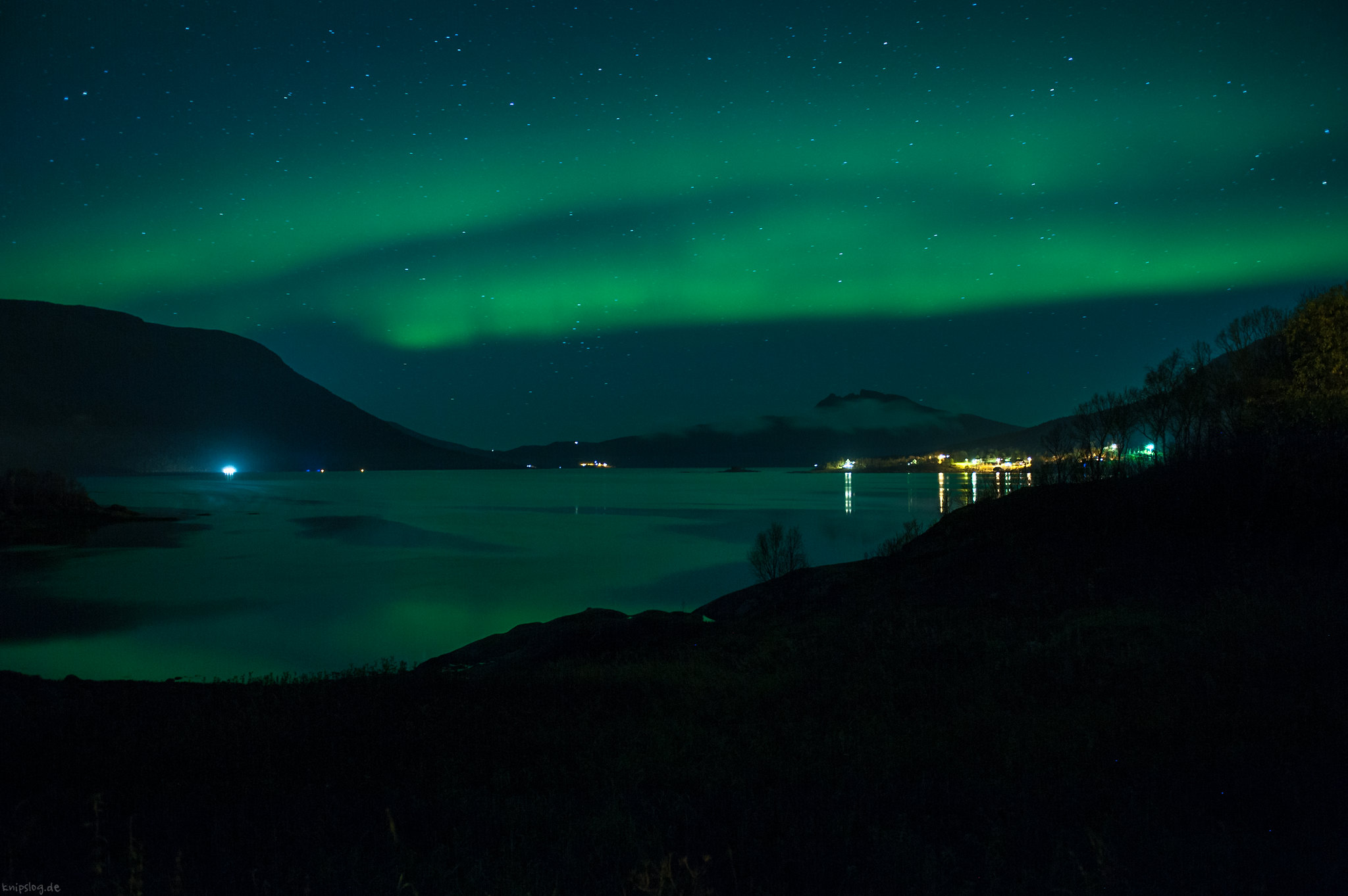 Aurora on the fjord