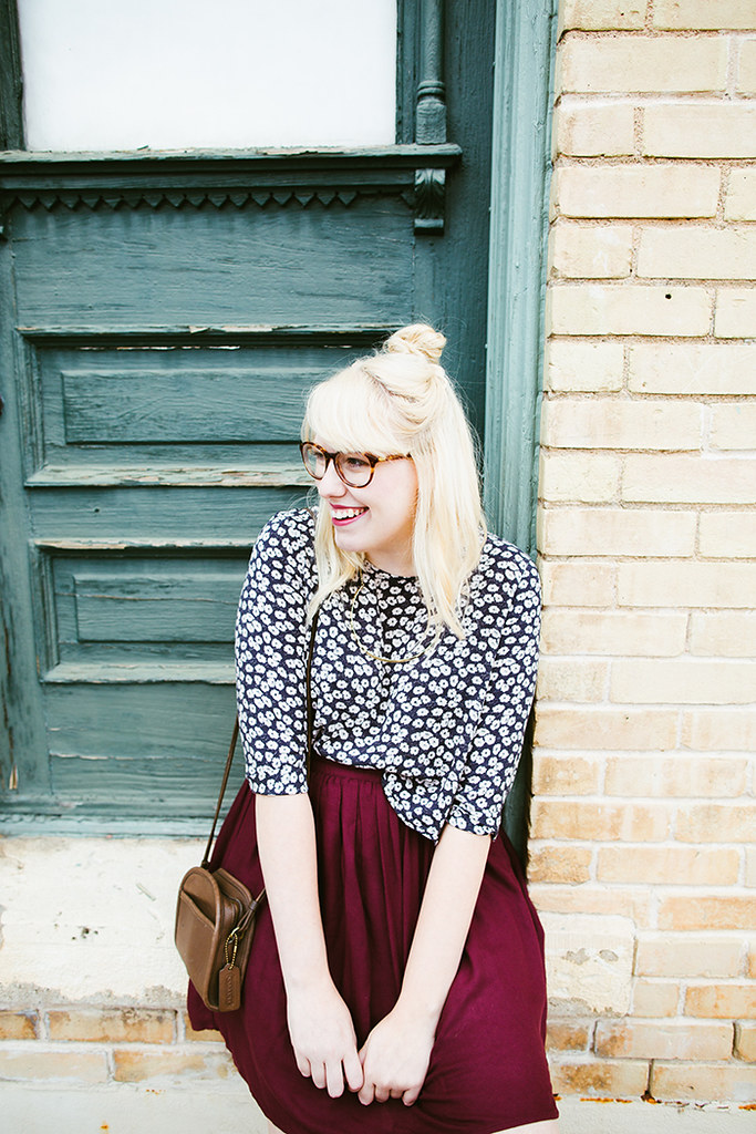 writes like a girl fall outfit colorblock jewel tones4