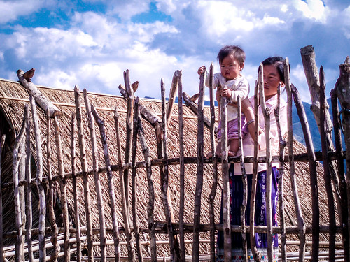 Hmong village near Vang Vieng.