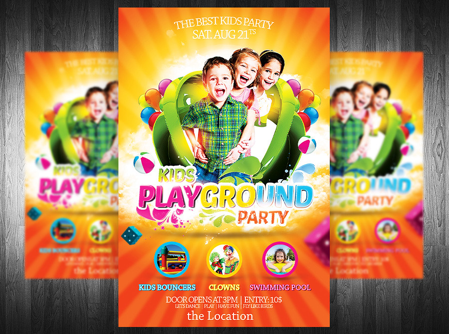 Kids party flyer template 20 you can download the templat flickr kids party flyer template 20 by grandelelo maxwellsz