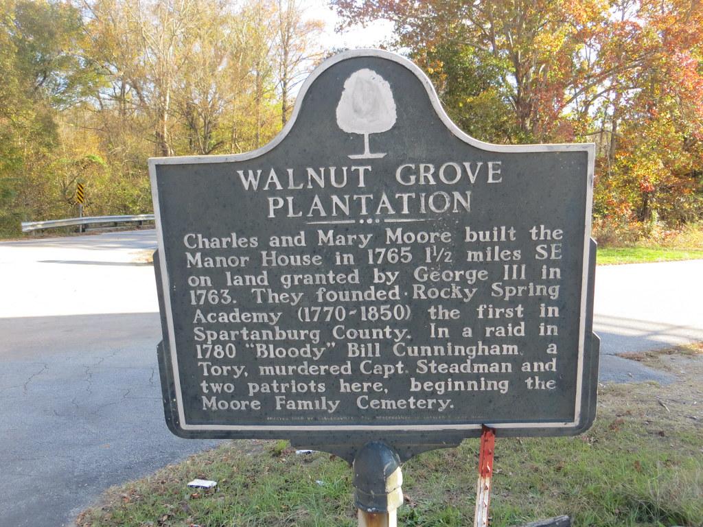 at the cemetery walnut grove plantation