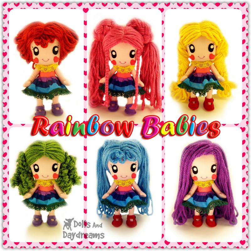 Kawaii Anime Manga Chibi Doll Sewing Pattern Rainbow Babie…   Flickr