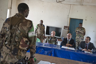 UN Department of Peacekeeping Operations meets commander of MISCA in Bambari in Central African Republic | by Mission des Nations Unies en RCA