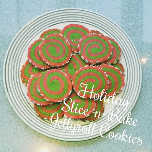 Holiday Slice-n-Bake Jellyroll Cookies
