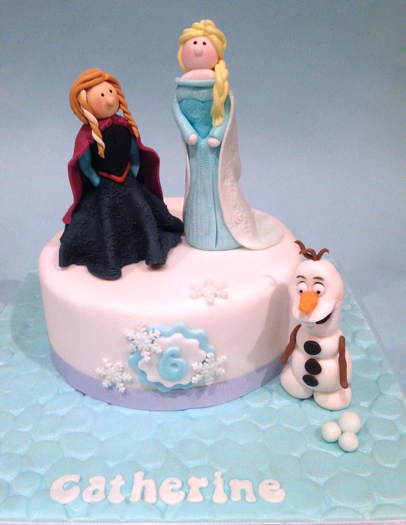 Disney Frozen Birthday Cake A Birthday cake for my daughte Flickr
