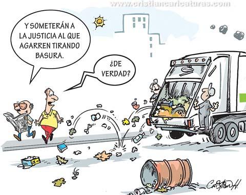 preso por basura