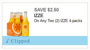 Izze 4pk Printable Coupon