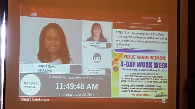 Sample view of Smart Gatekeeper   PLDT SME Nation's Smart Digital Campus Launched in Davao City - DavaoLife.com