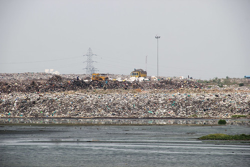 Perungudi dumpyard located right on the Pallikaranai marsh.