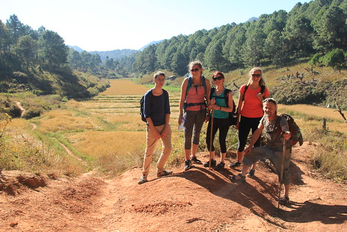 Our trekking group, Kalaw to Inle Lake