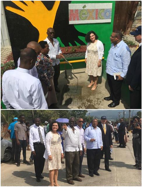 El Gobierno de Jamaica inaugura obra de infraestructura financiada por México
