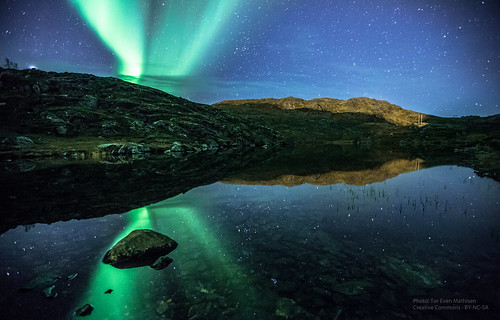 Aurora over Ravdnjejavri / Saragamvannet, Rypefjord | by Tor Even Mathisen