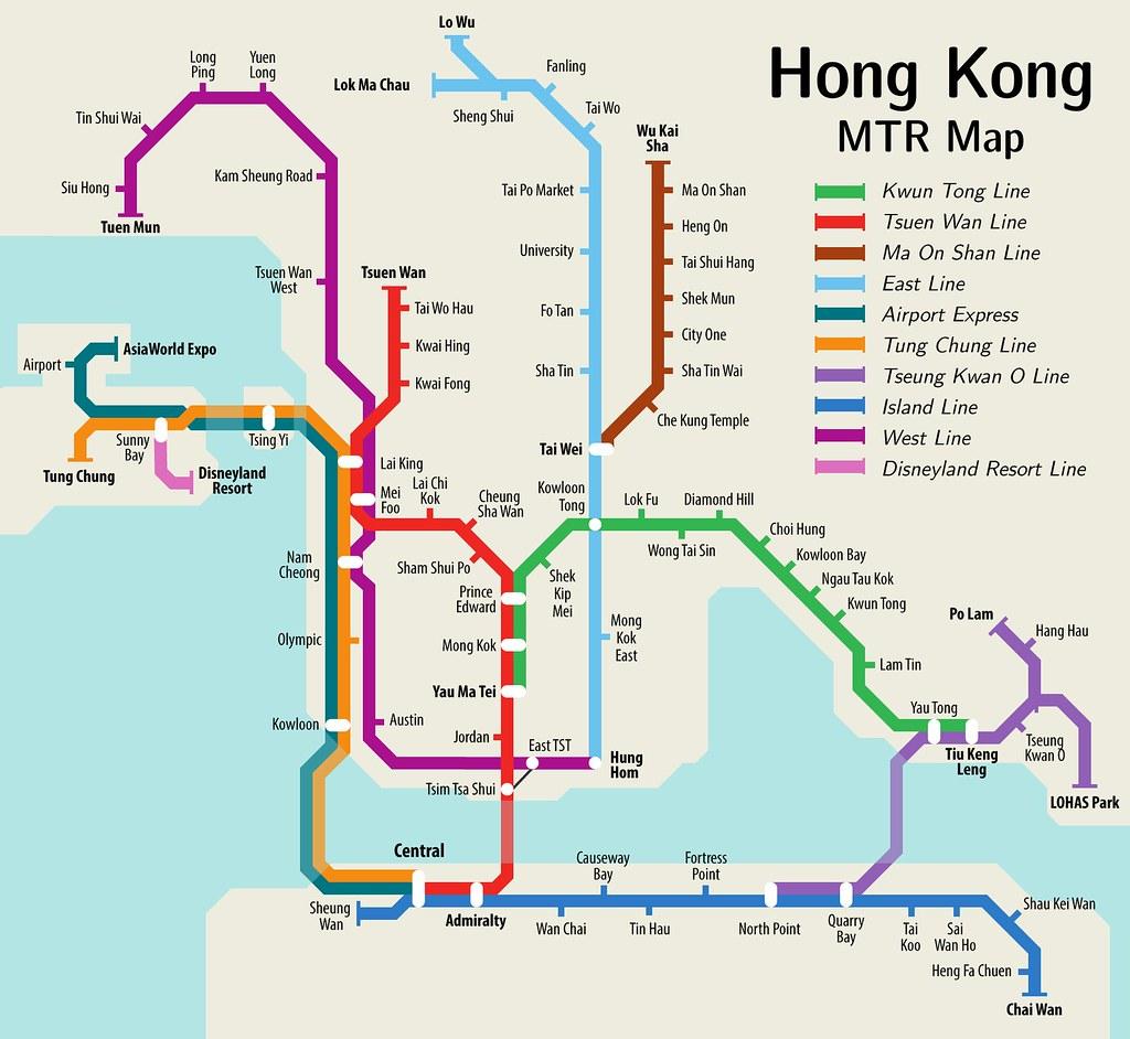 hong kong metro map english metro map