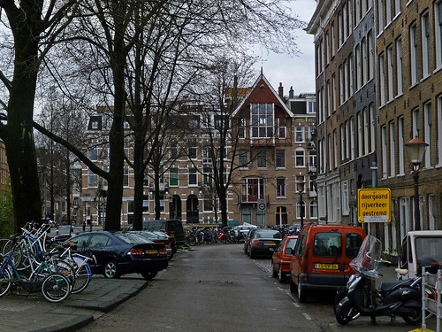 2013.04 - 'Streetview of a small neighborhood', with residential buildings, Amsterdam city photo by Fons Heijnsbroek, The Netherlands | by Amsterdam photos, pictures, foto's - Netherlands