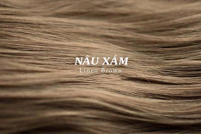 Mầu tóc nâu xám