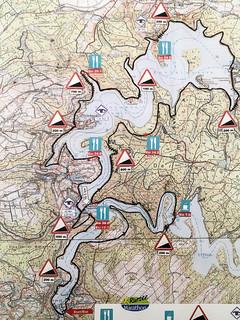Wettkampfstrecken 20. Rursee-Marathon