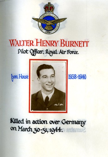 Burnett, Walter Henry (1924-1944) | by sherborneschoolarchives
