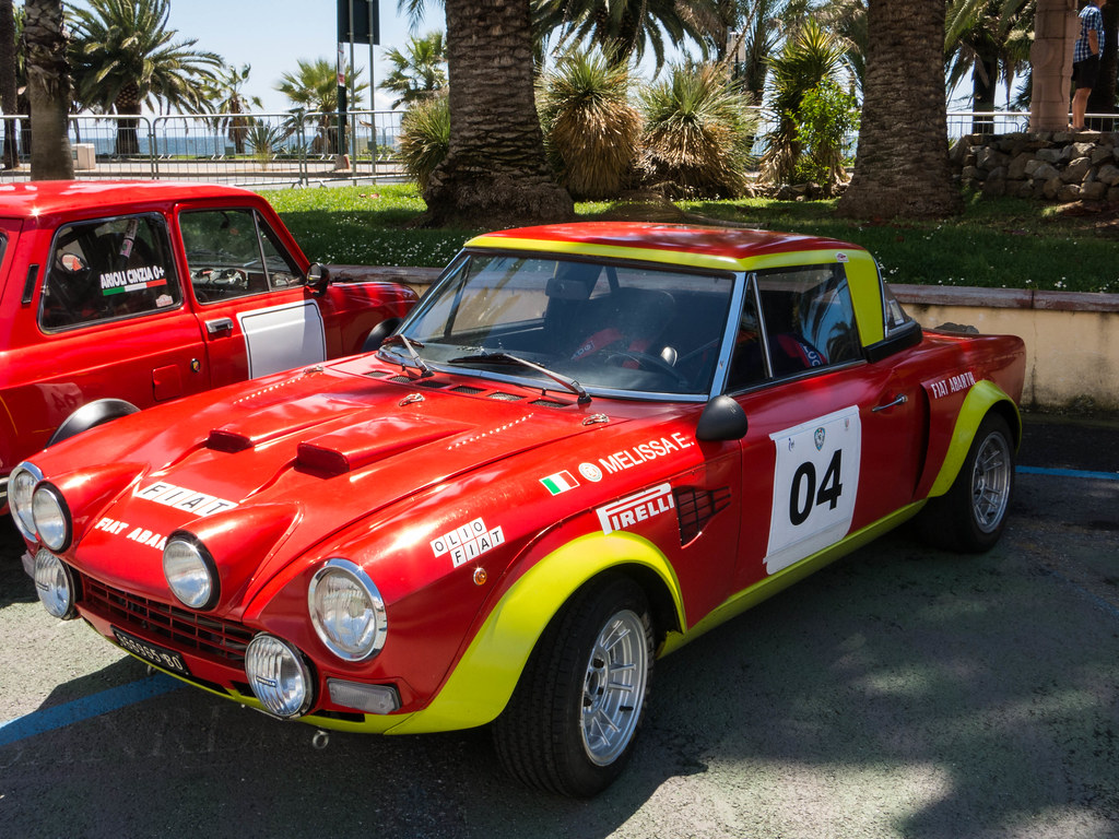 Vintage Rally Cars In San Remo Fiat 124 Abarth Rally Flickr
