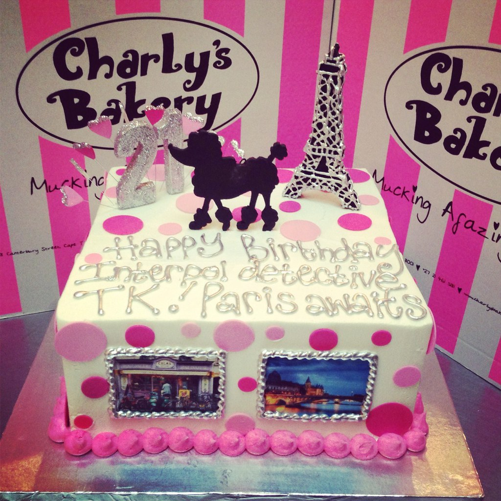 Paris Themed Birthday Cake Charlys Bakery Flickr