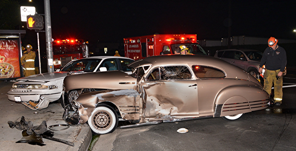 Classic Car Damaged in North Hills Crash | NORTH HILLS - The… | Flickr
