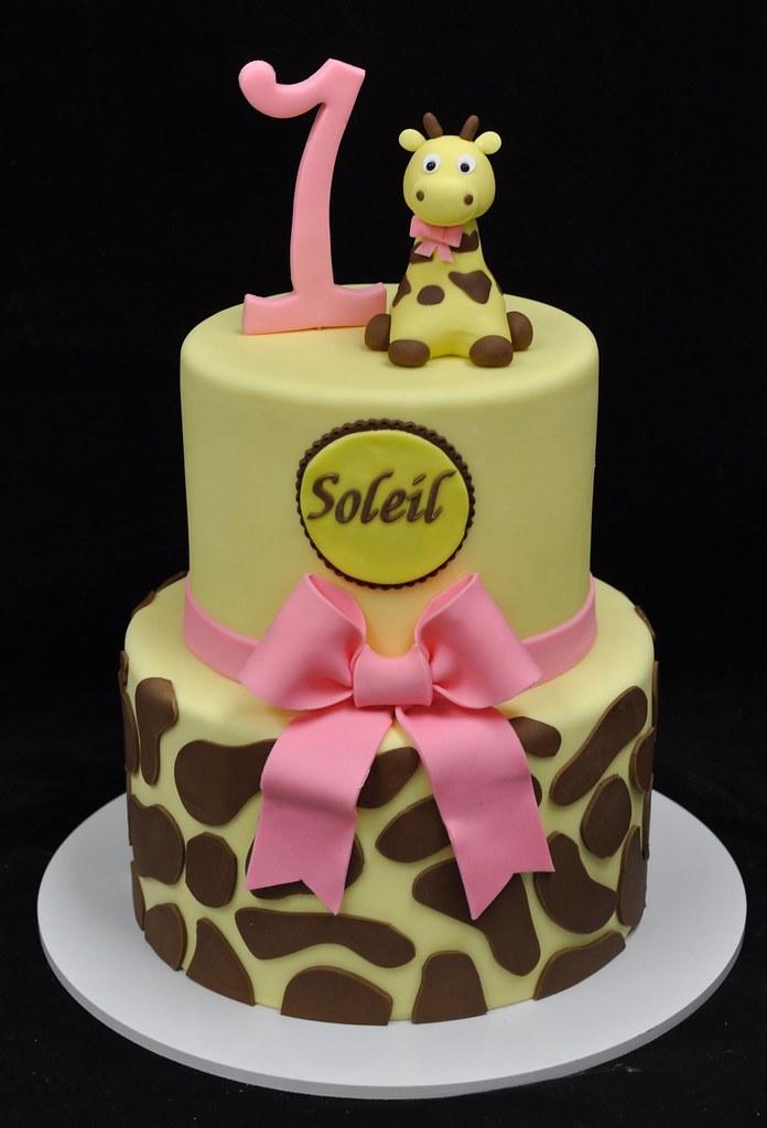 Giraffe first birthday cake Jenny Wenny Flickr