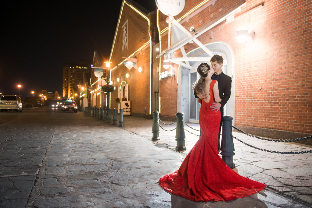 函館金森倉庫婚紗,北海道函館婚紗,北海道夜景婚紗