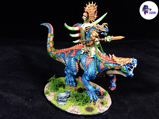 Saurus Oldblood On Carnosaur (1) | by miniaturepaintingstudio