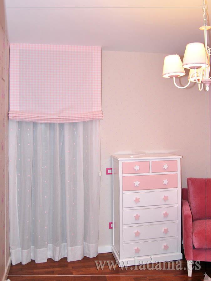 ... Cortina Infantil Y Doble Estor En Habitación Bebé | By La Dama  Decoracion