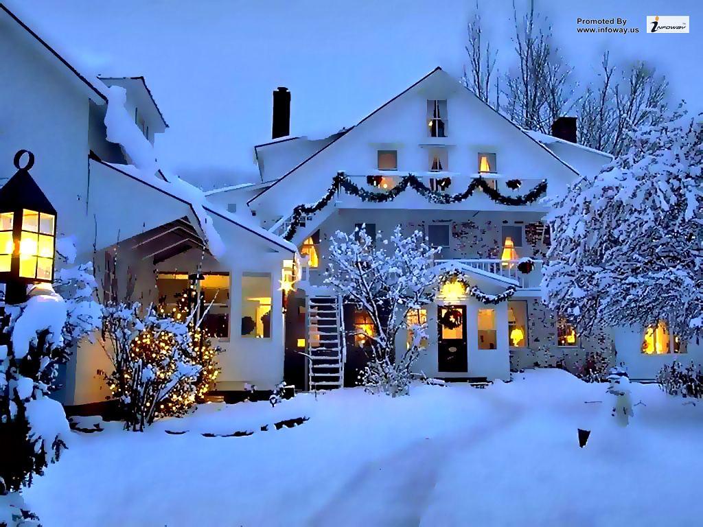 christmas scene wallpaper by infoway llc website development company