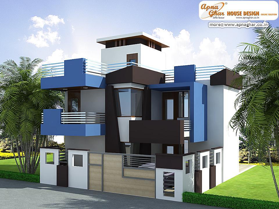Modern Duplex House Exterior Elevation Modern Duplex House Flickr