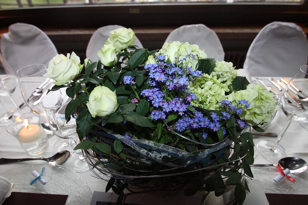 Gepflanzte Tischdekoration Fur Eine Grune Hochzeit Mit R Flickr