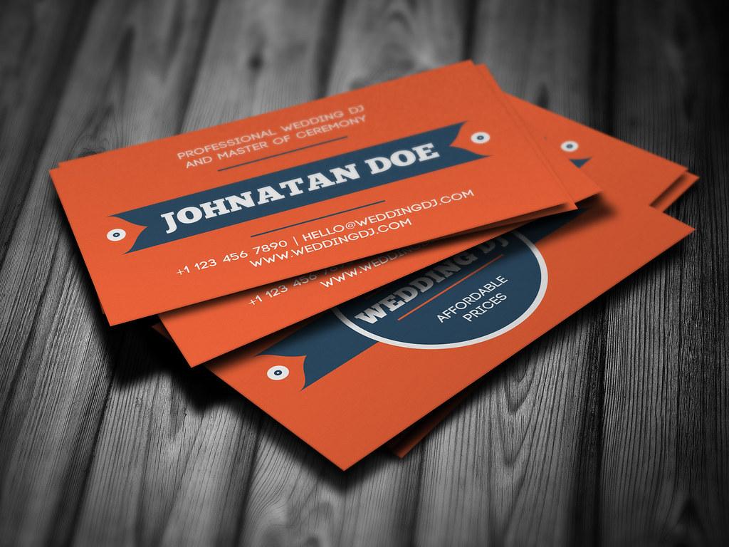 Wedding dj business card 2 side business card template for flickr wedding dj business card by iamvinyljunkie colourmoves