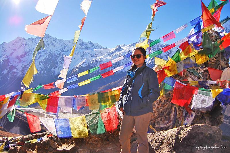 Tibetan Prayer Flags on Kyanjing Ri, Kyanjing Gompa, Langtang Trek, Nepal