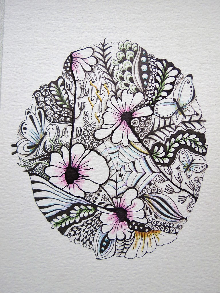 Flower Mandala | By MakeArtBeHappy Flower Mandala | By MakeArtBeHappy