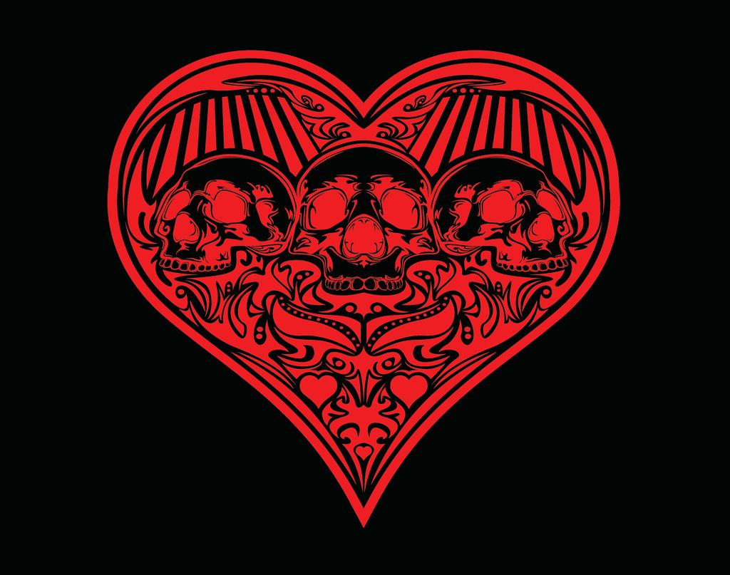 2014 Cupid's Massacre Heart (Red on Black)